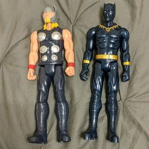 Thor and Black Panther figures